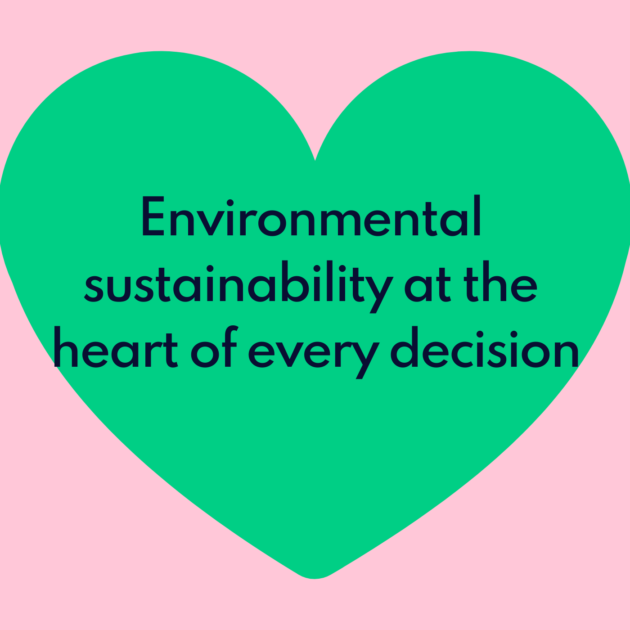 Environmental sustainability at the heart of every decision