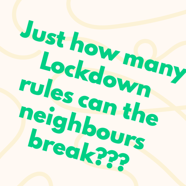 Just how many Lockdown rules can the neighbours break???