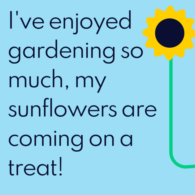 I've enjoyed gardening so much, my sunflowers are coming on a treat!
